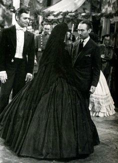 Scarlett O'Hara (Vivien Leigh) and Rhett Butler (Clark Gable) in Gone With The Wind