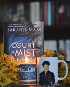 """""""Hello Feyre darling he purred. . I still can't get over this book or my eternal love for Rhys so having some merch inspired by the High Lord himself is absolutely everything!!! . The Night Court candle is from my absolutely favs @themeltinglibrary and it smells like I'm snuggling next to my very own Rhys in the Court of Dreams. One of my new all time favorite smells!! 