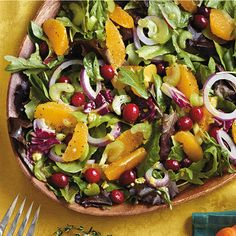 Find more healthy and delicious diabetes-friendly recipes like Mixed Greens and Cranberry Salad  on Diabetes Forecast®, the Healthy Living Magazine.