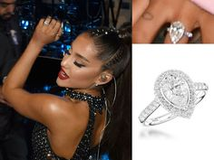 Double Take - How to Copy Ariana Grande's Pear-Cut Diamond Engagement Ring Style - Wakefields Blog Celebrity Engagement Rings, Engagement Ring Styles, Designer Jewelry Brands, Diamond Tattoos, Pear Diamond, Jewelry Branding, Ariana Grande, Wedding Rings, Beauty Care