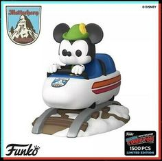 Funko Pop 2019 NYCC Exclusive Matterhorn Bobsled And Mickey Mouse. Pop Disney, Disney Rides, Disney Parks, Funko Pop Figures, Vinyl Figures, Action Figures, Pop Characters, Funko Pop Marvel, New Toys