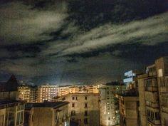 Clouds over city lights! #iphoneshot