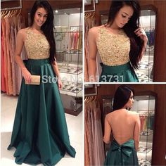 2015 new fashion prom dress, high neck prom dress,  a line prom dress dark green evening dresses ,taffeta prom gown, long prom dress,15040901