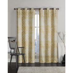 Add some whimsical color to your home's windows with this 96-inch curtain panel from VCNY Home. This grommet top curtain panel features two layers, including one blackout layer that helps with energy efficiency and protects your furniture from costly sun damage. This curtain panel comes in various different colors, so you can easily find one that matches your decor.  #Window #HomeDecor #VCNYHome