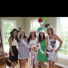 "Bridal shower tea party. Nothing says ""Sisters"" like a big hat collection!"