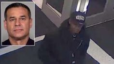 San Antonio Officer Benjamin Marconi (inset) and a possible suspect in his killing