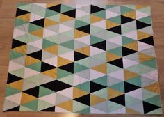 Made-By-Caro: Triangle quilt