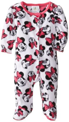Disney Baby Baby-Girls Minnie Mouse Microfleece Sleep and Play, Fuschia Multi, Months Newborn Boy Clothes, Baby Kids Clothes, Baby Outfits Newborn, Baby Girl Newborn, Baby Boy Outfits, Kids Outfits, Baby Baby, Winter Outfits, Baby Girls