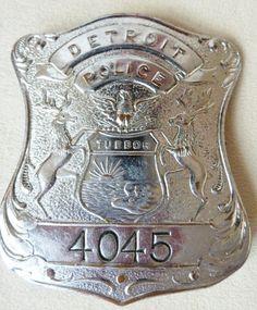 antique Vintage Detorit Police Badge Obsolete by scoobywowears, $99.99