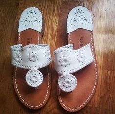 White summer jack rogers neutral