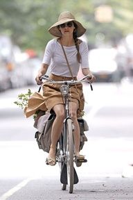More time outdoors, riding a vintage bike, swimming in the ocean, tennis and yoga.