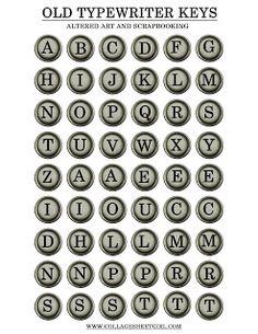 typewrit key, vintage paper, keys, printable decoupage paper, vintage typewriters, papers, letters, vintag paper, printabl vintag