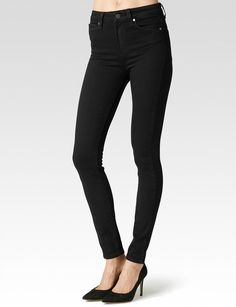 Paige® | Margot High Rise Super Skinny Jeans in Black Shadow