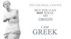 ...my origin is Greek