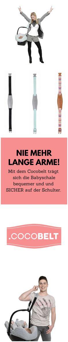 Das ist doch mal ein echt toller Helfer für Eltern! Mit dem Cocobelt kann man die Babyschale sicher und auch bequemer über der Schulter tragen. Zur Not hat man beide Hände frei! #babysicherheit #cocobelt #shopping #babyshower #geschenkzurgeburt #ad