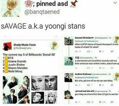 AHAHAAHAHA MY RESPECT FOR YOONGI STANS JUST WENT UP BY A MILLION GOD BLESS OUR SAVAGE ARMYS