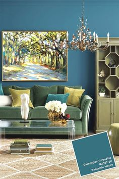 August - September 2016 paint colors from the Ballard Designs catalog Utility room paint color? Living Room Turquoise, Living Room Green, New Living Room, Living Room Decor, Turquoise Couch, Turquoise Furniture, Room Paint Colors, Paint Colors For Living Room, Wall Colors