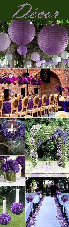 Your Wedding Color – Purple and green are a perfect combination for a spring or summer wedding.