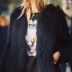 "@designerduchess's photo: ""The beautiful INDIANA Jacket from the AW2014 collection #fauxfur #luxury #streetstyle #longpilefaux #fashion #designerduchess"""