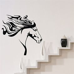 WALL'S MATTER Removable Wall Sticker Horse Silhouette Western Wall Art Mural Vinyl Decal * Startling review available here  : home diy improvement