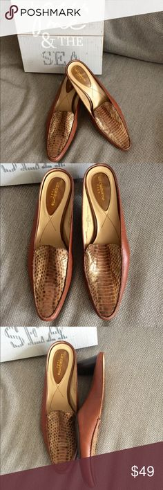 ❗️Liz Claiborne Croc Leather Mules ❗️Liz Claiborne Croc Leather Mules. Size 8, in excellent condition! Retails $118! Considering offers feel free to make one! Buy 1 get 2nd item of equal/ lesser value FREE on bundles! All must go--Fast shipping with my Fall Clearout sale ;-) Liz Claiborne Shoes Mules & Clogs