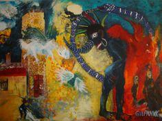 Bir kaosu duzenlemek uzerine.2012 oil on canvas.Tual uzerine yagli boya 140x200