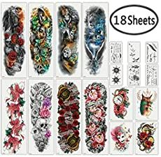 DaLin Extra Large Full Arm Temporary Tattoos and Half Arm Tattoo Sleeves for Men Women, 18 Sheets (Collection Best Leg Tattoos, Inner Arm Tattoos, Cool Back Tattoos, Half Sleeve Tattoos For Guys, Cool Chest Tattoos, Leg Sleeve Tattoo, Leg Tattoo Men, Full Sleeve Tattoos, Tattoo Sleeve Designs