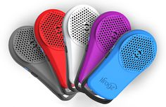 Just found these new Tadpole mini bluetooth speakers that clip right to a handbag strap or backpack.