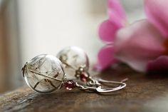 Dandelion seed earrings Sterling silver wish von RubyRobinBoutique
