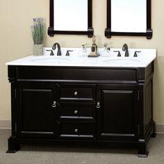 Palazzo 60-Inch Double Bathroom Vanity elizabeth 60-inch double bathroom vanity (carrara/white): includes
