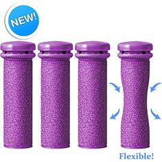 Emjoi Micro-Pedi SoftFLEX Technology Refill Rollers (Xtreme Coarse) - Pack of 4 ** Continue to the product at the image link.