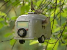 Bird house of dreams Bird House Feeder, Birds And The Bees, Vintage Travel Trailers, Bird Cages, Perfect World, Animal House, Fairy Houses, Little Houses, Camping Life