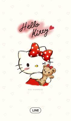 Hello Kitty Sketchbook | Line Wallpaper