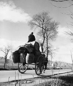 σούστα φορτωμένη 1955.φωτ.Τάκης Τλούπας