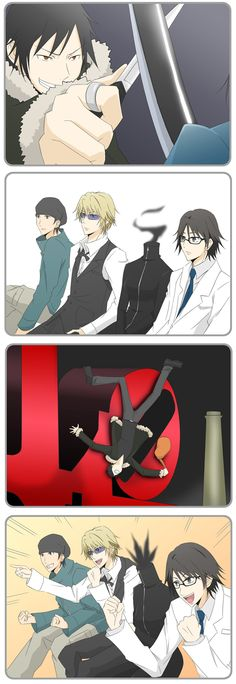 Durarara... This is SO true. When Izaya gets pounded... XD