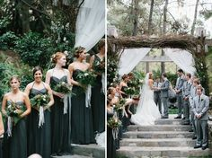 malibu ceremonyhttp://greenweddingshoes.com/romantic-malibu-forest-wedding-kate-ryan/