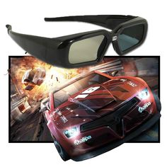 Portable DLP Link 3D Glasses USB Rechargeable Active Shutter 3D Glass for Universal 3D Ready DLP Projector Movie Game Video TV  Price: $ 48.99 & FREE Shipping   #computers #shopping #electronics #home #garden #LED #mobiles 3d Projector, Usb, 3d Glasses, Active, Electronics Gadgets, Portable, Free Shipping, Lifestyle, Link