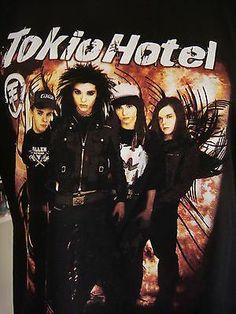 Tokio Hotel Shirt (Black) http://www.ebay.com/itm/161183280123?ssPageName=STRK:MESELX:IT&_trksid=p3984.m1558.l2649
