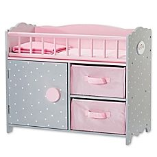 Shop for Olivia's Little World - Polka Dots Princess Baby Doll Crib with Cabinet and Cubbies. Get free delivery On EVERYTHING* Overstock - Your Online Toys & Hobbies Shop! Baby Doll Crib, Baby Cribs, Princess Baby Dolls, Baby Doll Furniture, Gray Furniture, Nursery Furniture, Dollhouse Furniture, Wooden Cribs, Baby Doll Accessories