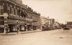 West Side of the Square, Neosho, Missouri 1930s