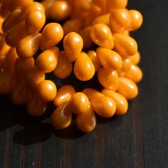 Czech Glass Bead Opaque Orange Luster by SweetTranquilJewelry, $3.25