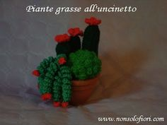 Rametto spirale all'uncinetto per piante grasse - YouTube Crochet Tree, Crochet Cactus, Diy Crochet, Crochet Doilies, Crochet Flowers, Crochet Hooks, Amigurumi Patterns, Crochet Patterns, Mini Cactus