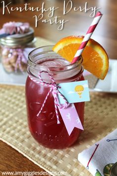 The official drink of the Kentucky Oaks... the Lily! Includes the recipe to make your own! www.amygigglesdesigns.com