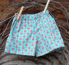 Baby Boys Shorts Blue and red farm print 6 12 by SouthernSister2, $12.00