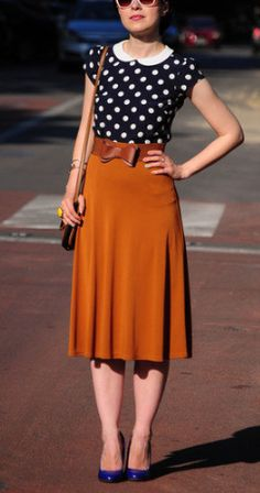 Polka dots & vintage style - just needs a slightly shorter skirt to be perfect!