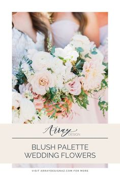 Blush Color Palette for Wedding Flowers - the perfect blush flowers and color palettes for the Arizona bride and groom. The colorful wedding color palettes are seen in bridal bouquet, bridesmaid bouquets, centerpieces and ceremony wedding flowers. Spring, winter, and fall wedding floral arrangements with blush flowers and blush floral accents for a Phoenix wedding ceremony and reception. Photos by Mary Claire Blush Wedding Colors, Spring Wedding Flowers, Blush Pink Weddings, Floral Wedding, Fall Wedding, Wedding Ceremony, Reception, Blush Color Palette, Color Palettes