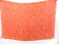 orange sarong with flowers print $4.95 - http://www.wholesalesarong.com/blog/orange-sarong-with-flowers-print-4-95/