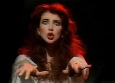 """superseventies: """" Kate Bush performing Wuthering Heights on Top of the Pops, 1978 - GIF """" Queen Kate, Queen Elizabeth Ii, Kate Bush Wuthering Heights, Oui Oui, Paramore, Music Tv, Female Singers, Famous Women, Record Producer"""