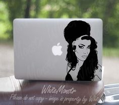 Amy Winehouse - sticker decal for Macbook, Macbook Pro and Macbook Air Macbook Decal, Macbook Air, Decals, Sticker, Amy Winehouse, Apple Macbook Pro, Techno, Tags, Macbook Stickers
