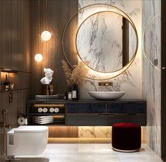 Modern Luxury Bathroom, Contemporary Bathroom Designs, Bathroom Design Luxury, Modern Bathroom Design, Home Room Design, Master Bedroom Design, Toilette Design, Washbasin Design, Washroom Design